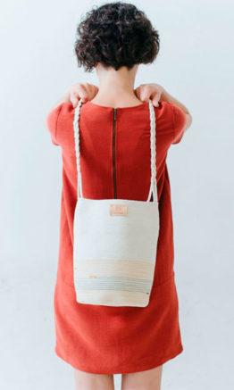 """bolso cuerda de algodón """"Eileen"""" verde/mostaza"""