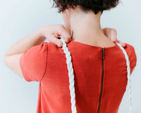 "bolso cuerda de algodón ""Eileen"" asa trenzada"