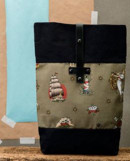 tatoo tradicional mochila estampada