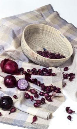 decoración para casa cestería en cuerda