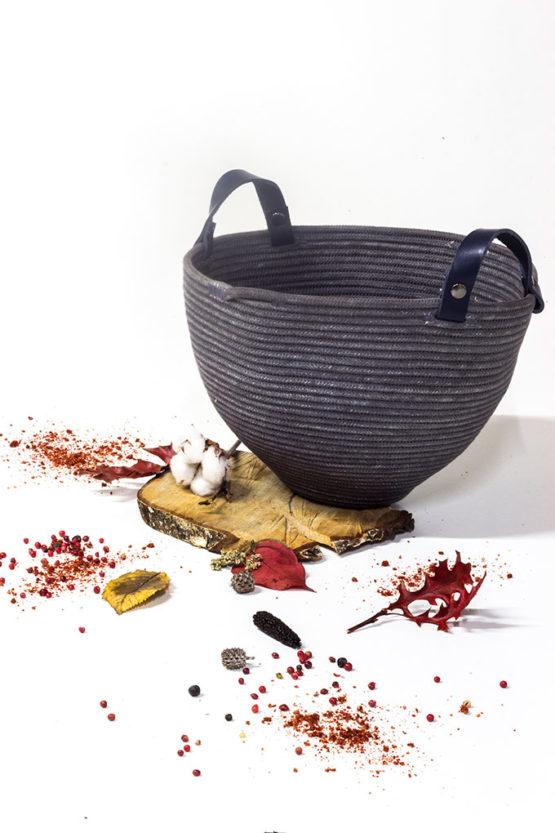 cesto artesanía cuerda de algodón