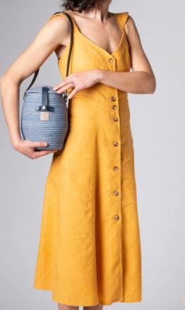 bolso Jane azul en cuerda de algodón
