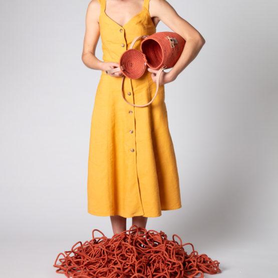 bolso Jane color teja en cuerda de algodón