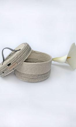 caja joyero en cuerda de algodón