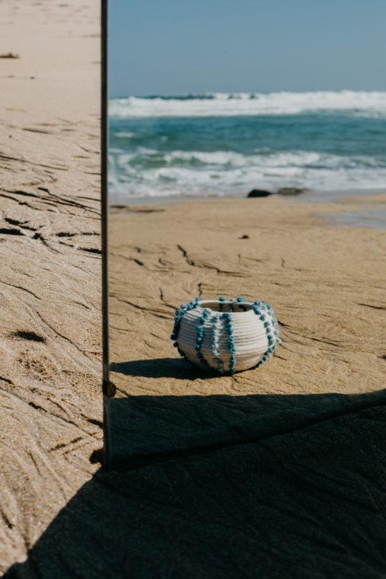 macetero erizo de mar línea Ondada